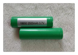 rechargeable e cigarettes NZ - Wholesale HOT 18650 Battery 25R High Drain Rechargeable Fedex For e-cigarette Electronic cigarette can charger Batteries