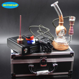 Electric Nail Smoking NZ - Electric Heating E Digital nail kit Heating Coil flat 10mm Heady Fab Egg bong Glass water pipe Glass rig smoking oil rigs