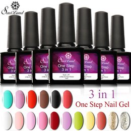Base Gel Uv Baratos-Al por mayor-Saviland One Step Gel Nail Polish UV Gel No Base Coat y Top Coat Soak Off Nail Art 3 En 1 Nail Gel Polish Pick 1