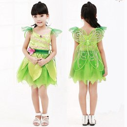 Peter Pan Cosplay Pas Cher-OHCOS Anime Tinkerbell Fille Costume Tinker cloche Robe <b>Peter Pan Cosplay</b> Costume Robe Pour Enfants Filles