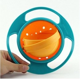 Infant Feeding Bowls NZ - Infant Baby Feeding Toy Bowl Dishes Kids Boy Girl Spill Proof Universal Rotate Technology Funny Gift Baby Accesories