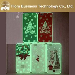 Discount bright iphone cases - New Year Santa Soft TPU+PC Noctilucence Phone Case Christmas Luminous Light Bright Phone Cover for iPhone 7 7plus 6 6s 6