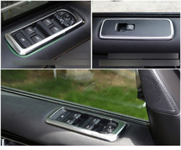 $enCountryForm.capitalKeyWord NZ - For Land Rover LR4 Discovery 4 2010 - 2015 ABS Chrome Intrior Door Window Lift Switch Cover Trim 4pcs set