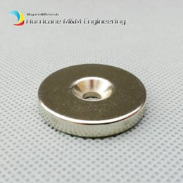 Rare Earth Neodymium Magnet Countersunk Hole Australia - 100pcs Countersunk Hole Magnet about Diameter 30X5mm Thick M5 Screw Countersunk Hole Neodymium Rare Earth Permanent Magnet