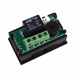 China Wholesale- DC 12V heat cool temp thermostat switch temperature controller Miniature thermostat temperature control switch panel cheap miniature cooling suppliers