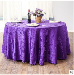 top quality wedding tablecloth table cloth round table cover banquet dining room wedding party decoration 9 color free shipping