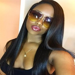 Malaysian Full Lace Wig Baby Hairs NZ - 7A Malaysian Natural Straight Full Lace Wig Bleached Knots Swiss Lace Glueless Lace Front Wig Baby Hair for Black Women