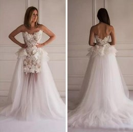 Detachable Peplum Wedding Dress Online Detachable Peplum Wedding