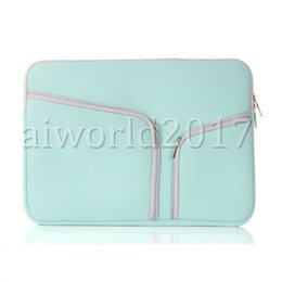 "Discount apple macbook pro air bag 100PCS Soft Zipper Liner Sleeve Hand Bag Case Cover for Apple Macbook Air Pro 11'' 12'' 13"" 15"""