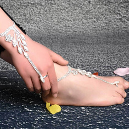 $enCountryForm.capitalKeyWord NZ - Women Fashion Jewelry Gold Silver Multi Slave Chain Finger Wrist Bracelet Hand Multi Hand Chain Harness For Girls