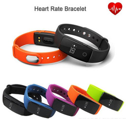 Smart watch bluetooth bangle online shopping - ID107 Bluetooth Heart Rate Monitor Smart Band Bracelet Bangle Watch Smartband Fitness Tracker Sports Wristbands for Android iOS Smartphone