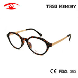97b3094d93 Wholesale- Vintage Glasses Frame Round TR90 Flexible Eyewear Frame in Clear  oculos de grau feminino Women Spectacles Fashion Metal Glass