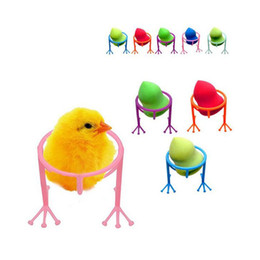 Wholesale chickens foot online – design Power Puff Stand Holder Make Up Sponge Organizer Shelf Chicken Feet Shape Makeup Cosmetic Tool ZA2517