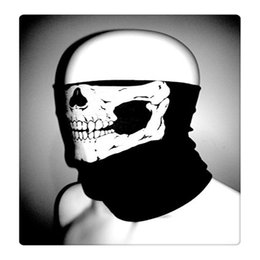 skulls motorcycles NZ - Wholesale Cycling Magic Scarf Multi Function Headwear Skull Bandana Motorcycle Helmet Neck Half Face Bike Masks Seamless Skull Face Mask DHL