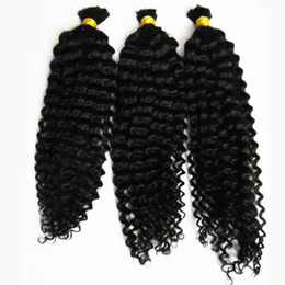 $enCountryForm.capitalKeyWord UK - Natural Color Mongolian afro kinky bulk human hair 300g braiding human hair no weft 3pcs human braiding hair bulk curly
