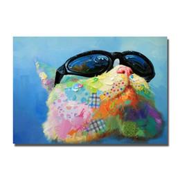 $enCountryForm.capitalKeyWord NZ - Nice design decorative pop art style animal fashion cat pictures wear sunglasses designer home decor for bedroom