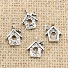 House Plates Australia - Wholesale 120pcs Charms Tibetan Silver Bronze Plated cabin house 17*15mm Pendant for Jewelry DIY Hand Made Fitting