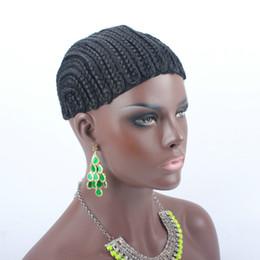 Glueless Wig Braids For Australia - 1pc Braids Hair Wig Cap Crochet Wig Caps Easy Sew In Cornrows Cap Elastic Crochet Braids Glueless Wig Braided Caps For Making Wigs