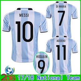 2017 2018 new argentina world cup soccer jersey 17 18 10 messi home di maria aguero