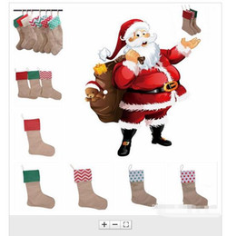 $enCountryForm.capitalKeyWord Canada - New 30*45cm Canvas Christmas Stocking Christmas Gift Bag Stocking Christmas Tree Decoration Socks Xmas Stockings for kids candy bags party