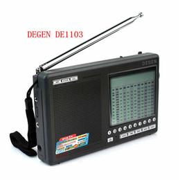 Sw Pack Australia - Wholesale-High quality Degen DE1103 DSP Radio FM SW MW LW SSB stereo World Receiver External Antenna digital portable Radio free shipping