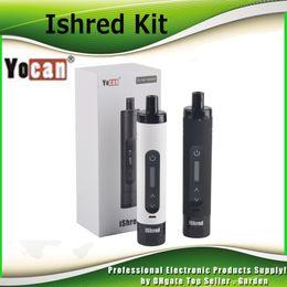 HigH battery online shopping - Original Yocan iShred Vaporizer Kit dry herb vaporizer Pen mah High Drain battery genuine DHL Free