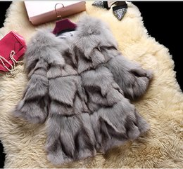 $enCountryForm.capitalKeyWord Canada - New Winter fashion women's full pelt real natural fox fur long sleeve o-neck medium long gradient color coat parka casacos M-3XL