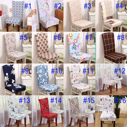 New Soft Spandex Stretch Dining Chair Cover Machine Washable For Restaurant  Weddings Banquet Hotel Chair Covering Flower Printing