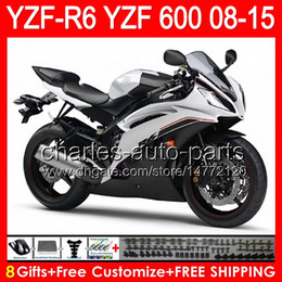 Fairing r6 silver online shopping - 8gifts gloss silver For YAMAHA YZF R6 YZF600 YZF R6 NO152 YZFR6 TOP black Fairing