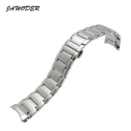 22mm curved end stainless steel online shopping - JAWODER Watchband mm Stainless Steel Deployment Buckle Clasp Polishing Brushed Curved End Watch Band Strap Bracelets for ARM