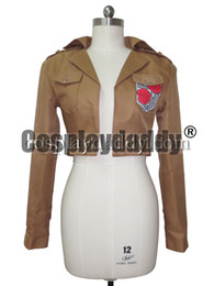 female titan cosplay UK - Attack on Titan Cosplay Costume The Garrison Stationed Corps Jacket Top