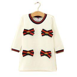 $enCountryForm.capitalKeyWord Australia - Kids Girl Dress Baby Girls Striped Bow Cotton Dresses 2-6Year Infant Princess Full Sleeve Party Dress Costume 2018 Children Clothes B798