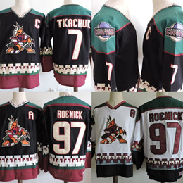 97 Jeremy Roenick Phoenix Coyotes Jersey Mens  7 Keith Tkachuk Black White  1998 Hockey Jerseys Mix Order Wholesale 34de1a59a