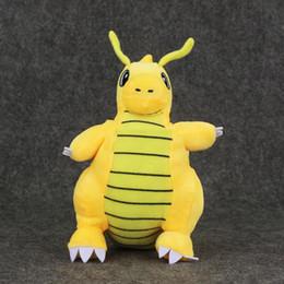 "Discount pokemon stuffed animals - Hot ! 9"" 23cm Poke doll Pikachu Dragonite Plush Doll Stuffed Toy Animals For Baby Best Gifts wholesale"