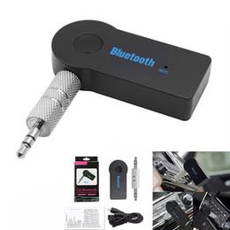 Toptan satış Bluetooth Araç Adaptörü Alıcısı 3.5mm Aux Stereo Kablosuz USB Mini Akıllı Telefon MP3 Için Bluetooth Ses Müzik Alıcısı Perakende Paketi ile