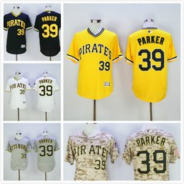 1af6439e5 Pittsburgh Dave Parker Jersey Hot Sale Mens 39 Pittsburgh Pirates baseball  Jerseys Flexbase Coolbase Throwback Yellow White ...