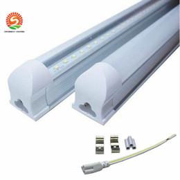 cool cold packs Canada - 8 ft LED tube T8 LED single fixture plug and play LED Tubes 2.4m 45W Warm Natural Cool White 25-pack