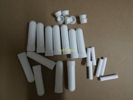 50 set / lote Envío Gratis Portátil Refrescante Nasal Cold Inhaler Blank Empty Nasal Inhalador Sticks para Aceite Esencial de color blanco