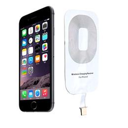 71c0803daaa Qi Wireless Power Charger Receiver cargador receptor módulo de etiqueta  para Apple iPhone 7 5 5C 5S 6 6S Plus iPhone X