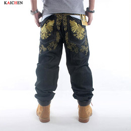 $enCountryForm.capitalKeyWord Canada - Wholesale- Men hip hop jeans skateboard men baggy jeans denim hiphop pants casual loose jeans rap 4 Seasons trousers big size 30-42