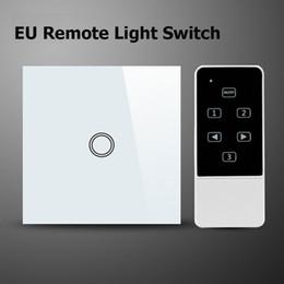 $enCountryForm.capitalKeyWord Canada - Wholesale-Smart Home Wifi Light Switch,EU Standard 1Gang Wireless Remote Control ,Glass Panel Touch Switch Work With Broadlink Geeklink