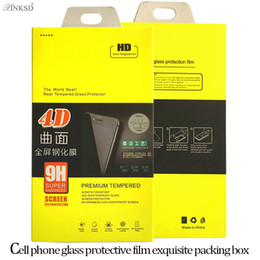 Wholesale Boxes Packaging Canada - Empty Paper Retail Boxes Package Packing Packaging For 9H 4D Premium Tempered Glass Screen Protector Film i6 i6s i7 PLUS Box Free Delivery