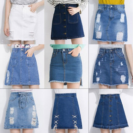 Discount Denim Jean Skirts Knee Length | 2017 Denim Jean Skirts ...