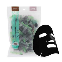 Diy Compressed Face Mask NZ - Facial Mask Paper Natural Bamboo Charcoal Fiber Mask Paper Skin Face Care DIY Cloth Mask Cotton Mask 40Pcs per bag