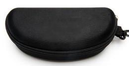 A ++ estuche rígido cremallera gancho caja de gafas de sol caja de gafas de compresión negro metal plástico deportes gafas de sol caja de la caja envío gratis