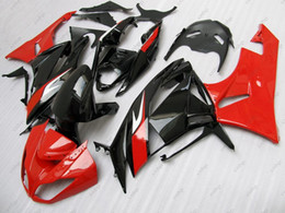 Red Black Kawasaki Zx6r NZ - Plastic Fairings Ninja Zx-6r 09 10 Full Body Kits for Kawasaki Zx6r 2011 Black Red Fairing Kits 636 Zx-6r 2010 2009 - 2012