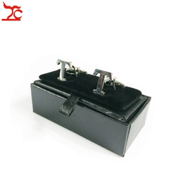 Box Jewelry Storage Organizer Black Australia - Wholesale 20Pcs Black Cufflinks Case Holder Gentleman Cufflinks Carrage Storage Package Organizer Gift Box 8x4x3cm