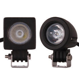 Chinese  10W CREE LED Work Light Driving Lamp Car SUV ATV 4WD AWD 4X4 Auto Tractor Offroad Round Square Motorcycle Truck Bike Fog Headlight manufacturers
