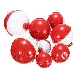 fishing floats buoy Australia - Wholesale- CAMTOA 8Pcs set Assorted Mixed Sizes Round Plastic Sea Fishing Floats Bobbers Buoy Set Combo Fishing Tackle