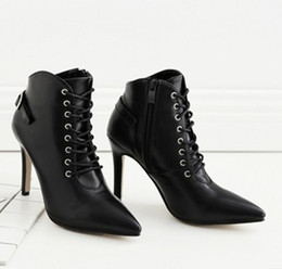 1d5d18831ba free shipping foreign trade new south Korean version short boots with high  heels and topless ankle boots 370